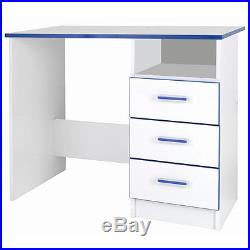 Children's Writing Desk Blue Kids Bedroom Furniture Storage Drawing Table Work