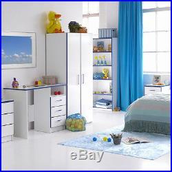 Children S Writing Desk Blue Kids Bedroom Furniture Storage Drawing Table Work
