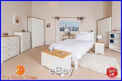 Childrens Bedroom Furniture White And Pine Wardrobe Drawers Storage ...