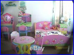 Childrens Toy Box Doll House Storage Bookcase Shelf Kids Girls Wooden Fairy
