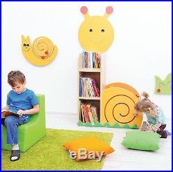 Childrens Wooden Bookcase Kids Book Storage Containe Snail Toy Storage Organizer