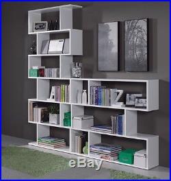 Ciara White Bookcase Display Shelf Unit Room Divider 6 Tier or 3 Tier