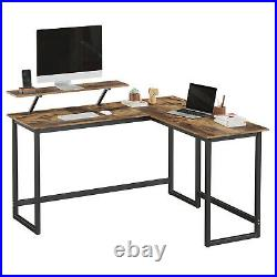 Computer Desk Wooden Writing Study Workstation Storage Table Home Office VASAGLE