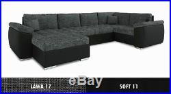 Corner & Sofa Bed & Armchair VEGAS. SPRUNG MATTRESS AND EXTRA STORAGE