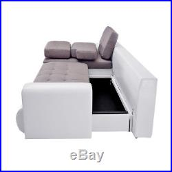 Awesome Corner Sofa Bed Storage Faux Leather Fabric Sofabed Settee Inzonedesignstudio Interior Chair Design Inzonedesignstudiocom