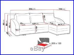 Corner Sofa Bed VIVA CORNER Storage Container Sleep Function Universal New