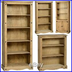 Corona Mexican Pine Storage Bookcase, Bookshelf, Shelves Free Next Day Delivery