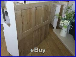 Country Chic Solid Pine Monks Bench Pew Chair Hall Storage Bench
