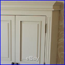 Daventry grey double wardrobe linen closet storage children bedroom shelves