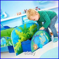 Dinosaur Junior Toddler Bed With Canopy / Storage Childrens
