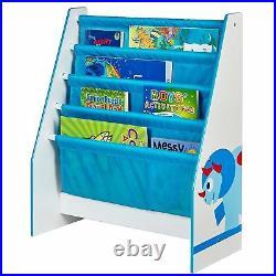 Dinosaurs Childrens Furniture Toy Box / 6 Bin Storage Unit / Sling Bookcase