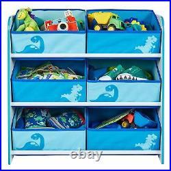 Dinosaurs Sling Bookcase & Toy Box & 6 Bin Storage Unit Kids Furniture Set