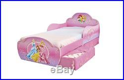 Disney Princess Bed Underbed Storage Toddler Kids Childrens Bedroom Furniture