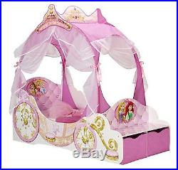 Disney Princess Toddler Carriage Bed with Storage Boxes ...