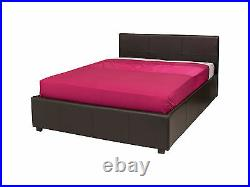 Double Ottoman Storage Bed Brown Leather 4ft6 Gas Lift Up NEW SALE PRICE
