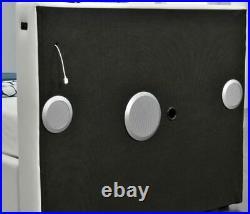 Double Storage Bed Black Faux Leather Led Speaker Bluetooth Usb Aux Uk