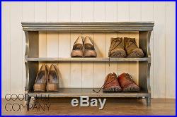 Elegant Solid Pine Shoe Shelf Storage Bench / Shoe Rack THE GOOD SHELF COMPANY