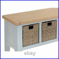 Elegant grey and light oak finish Bench Hall Seat Shoe storage