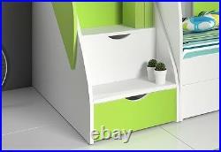 FANTASTIC DESIGN Children Bunk bed MARTIN drawer and storage. QUICK DELIVERY