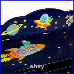 Fantasy Fields Children Outer Space Wooden Toy Box Chest Kids Storage TD-12219A