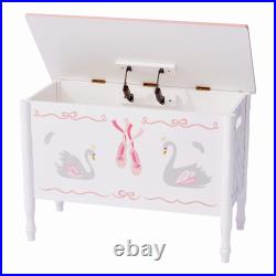 Fantasy Fields Childrens Swan Lake Wooden Toy Box Chest Kids Storage TD-12720A