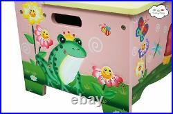Fantasy Fields Magic Garden Childrens Kids Wooden Toy Storage Bench TD-11644A