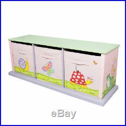 Fantasy Fields Magic Garden Kids Wooden Storage Canvas Drawers Toy Box TD0132A