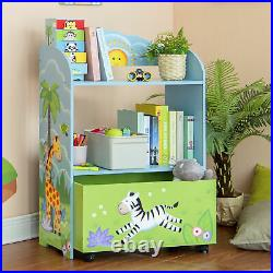 Fantasy Fields Sunny Safari Toy Organizer with Rolling Storage Box TD-13219A