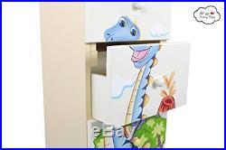 Fantasy Fields by Teamson Dinosaur Kingdom Childrens Bedroom Wooden Storage 5