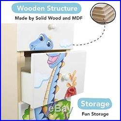 Fantasy Fields by Teamson Dinosaur Kingdom Childrens Bedroom Wooden Storage 5 D
