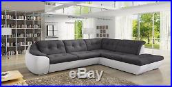 Fast Delivery Corner Sofa Bed with storage DAKO GALAXY D faux leather & fabric