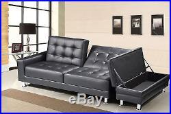 Phenomenal Faux Leather 3 Seater Sofa Bed Storage Ottoman Bluetooth Inzonedesignstudio Interior Chair Design Inzonedesignstudiocom