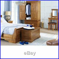 French Louis Oak Bedding Blanket Box Shoe Storage Toy Trunk Chest FL14