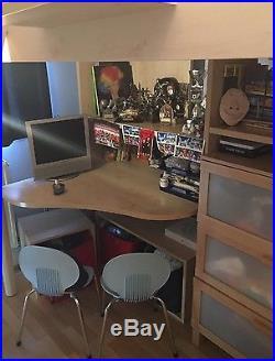 GAUTIER Bed/desk/bookshelf/storage All In One Unit. IDEAL BEDROOM FOR CHILD/TEEN
