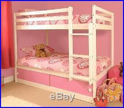 Girls Wooden Pink White Bunk Bed Slide Drawers Storage 3FT Single Kids Bedroom