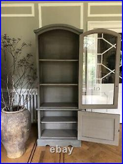 Glass Cabinet Storage Dutch Gable Style Painted Cupboard Unit Arch