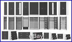 Grey Gloss / White Bedroom Furniture Set / Wardobe Chest Bedside Dressing Table