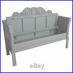 Grey Scandinavian Bench Lift Up Lid Storage New
