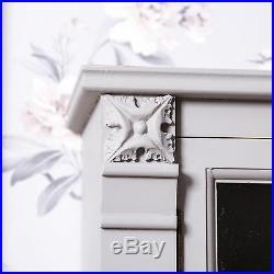 Grey Wall Cabinet Shabby Cupboard Unit Kitchen Bathroom Vintage Chic Storage