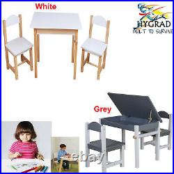 HYGRAD Kids Art Table and Chair Set Study Desk Lift-Top Storage Furniture Wooden