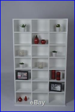 HYG 21 CUBE JORVIK DVD CD UNIT WHITE GLOSS Storage Cabinet Cupboard Rack Tower