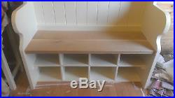 ##Handmade Bespoke monks pew with coat hooks and shoe storage FREE DELIVERY