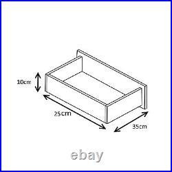 High Gloss Black / Black Oak 4 Drawer Reflect Dressing Table / Desk Bedroom
