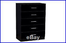 High Gloss Black With Black Oak Frame Bedroom Furniture Wardrobe Chest Bedside