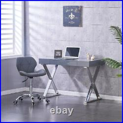 High Gloss Computer Home Office Desk Dressing Table withDrawer Makeup Desk Storage