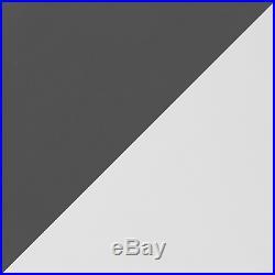 High Gloss Graphite Grey / Matt White 4 Drawer Reflect Dressing Table / Desk