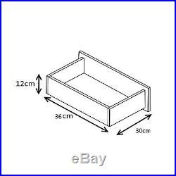 High Gloss Grey & Matt White 4 Piece Set 3 Door Mirrored Wardrobe Chest Bedside