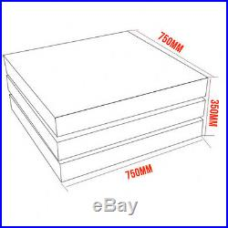 High Gloss White & Gray Square Storage Rotatable Coffee Table With 3 Layers