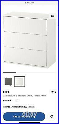 IKEA EKET Cabinet combination Storage Living room Bedroom RRP £500