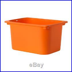 IKEA Storage Combination With TROFAST Storage Boxes Black/Orange 99x44x94 cm